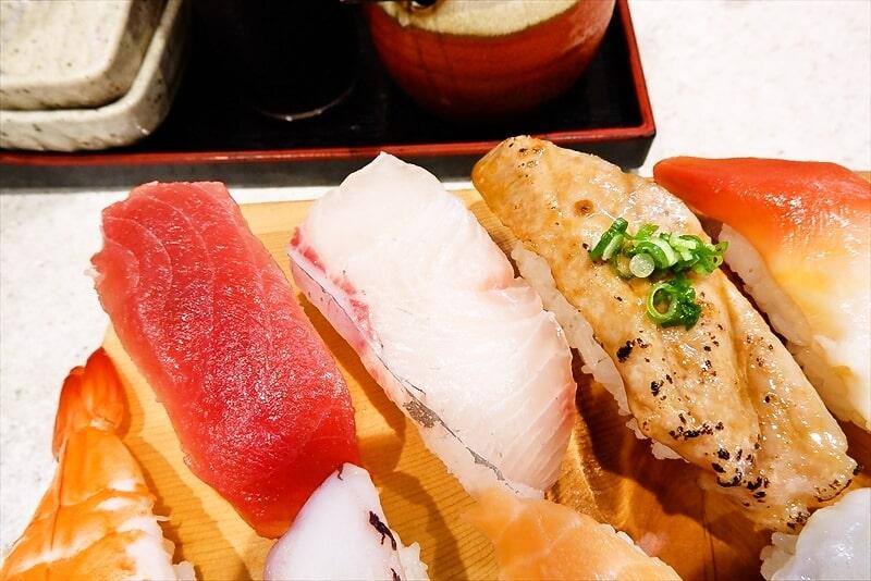 『まぐろ亭』ランチ握り寿司5