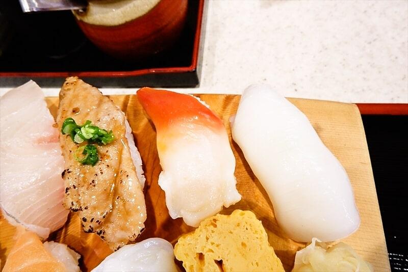 『まぐろ亭』ランチ握り寿司6