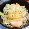 """新宿『かめや』24時間営業の神蕎麦店で""""元祖冷やし天玉そば""""など如何でしょう?@夏"""